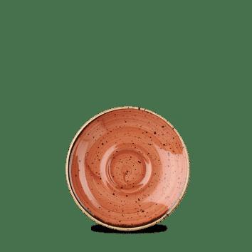 Stonecast ROSSO MATTONE PUNTINATO PIATTO TAZZINA DA CAFFÈ 11,8cm